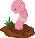 Funny cartoon earthworm Stock Image