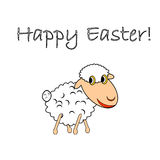 A funny cartoon Easter sheep Stock Photos
