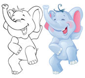 Funny cartoon elephant Royalty Free Stock Photo