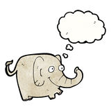 Funny cartoon elephant Stock Photos