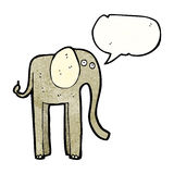 Funny cartoon elephant Stock Images
