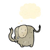Funny cartoon elephant with thought bubble Stock Photo