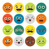 Funny cartoon emojis. Royalty Free Stock Images