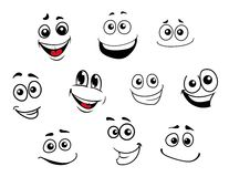 Funny cartoon emotional faces set Royalty Free Stock Image