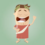 Funny cartoon emperor Royalty Free Stock Images
