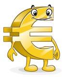Funny cartoon euro Royalty Free Stock Photos