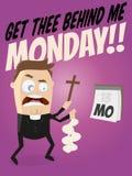 Funny cartoon exorcist Royalty Free Stock Photos