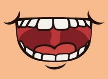 Funny cartoon face Stock Photography