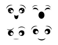Funny cartoon face. Graphic design, vector illustration eps10 Stock Images