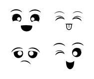 Funny cartoon face Royalty Free Stock Images