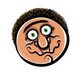 Funny cartoon face, vector illustration. Royalty Free Stock Photography