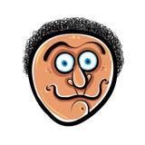 Funny cartoon face, vector illustration Royalty Free Stock Photography
