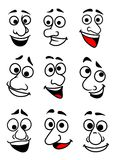 Funny cartoon faces set Royalty Free Stock Photo