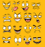 Funny cartoon faces Stock Image