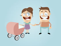 Funny cartoon family Stock Photo
