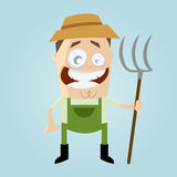Funny cartoon farmer. Illustration of a funny cartoon farmer Stock Image