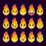 Funny cartoon fire character Royalty Free Stock Photo