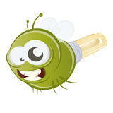 Funny cartoon firefly Royalty Free Stock Images