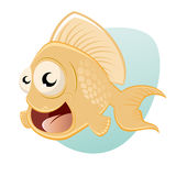 Funny cartoon fish Stock Image