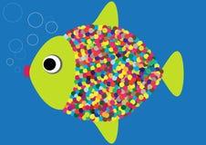 Funny cartoon fish Royalty Free Stock Images