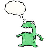 Funny cartoon frog Stock Image