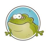 Funny cartoon frog Stock Photos