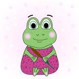 Illustration of a funny frog stock illustration