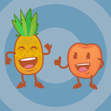 Funny Cartoon Fruits. Colorful Vector Clip art Stock Photography