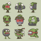 Funny cartoon game monsters Royalty Free Stock Photo