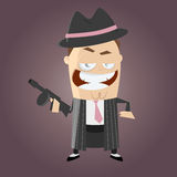 Funny cartoon gangster. Illustration of a funny cartoon gangster Royalty Free Stock Photo