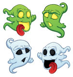 Funny cartoon ghost vector illustration