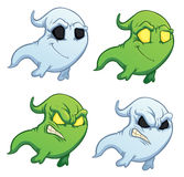 Funny cartoon ghost on the white background Stock Images