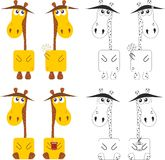 Funny cartoon giraffe Stock Photo