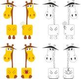 Funny cartoon giraffe Stock Photo