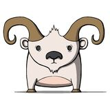 Funny cartoon goat. Vector illustration Royalty Free Stock Photography