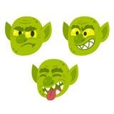 Funny cartoon goblin faces Stock Photo
