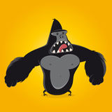 Funny cartoon gorilla. Illustration of a funny cartoon gorilla Royalty Free Stock Photos