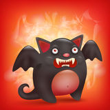 Funny cartoon halloween angry bat character Royalty Free Stock Photography