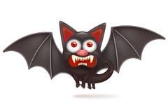 Funny cartoon halloween angry bat character. Royalty Free Stock Photos