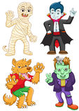 Funny cartoon halloween set. Royalty Free Stock Images