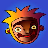 Funny cartoon head. vector colorful illustration with gradients vector illustration