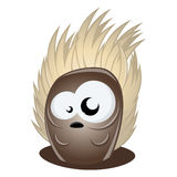 Funny cartoon hedgehog Stock Images