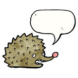 funny cartoon hedgehog Royalty Free Stock Image