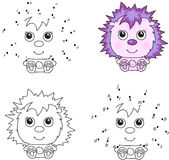Funny cartoon hedgehog. Vector illustration. Royalty Free Stock Image