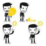 Funny cartoon helper man Royalty Free Stock Image