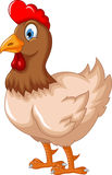 Funny cartoon hen for you design Royalty Free Stock Image