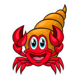 Funny cartoon hermit crab Royalty Free Stock Images