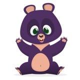 Funny cartoon Himalayan bear giving a hug. Big collection of cartoon forest animals. Vector illustration for children book. Funny cartoon Himalayan bear giving Stock Photography