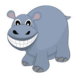 Funny Cartoon Hippo Stock Photography