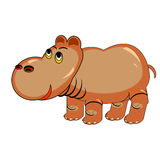 A funny cartoon hippopotamus Royalty Free Stock Photography